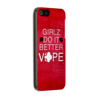 赤くグランジでガーリーなVape Incipio Feather® Shine iPhone 5 ケース