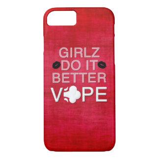赤くグランジでガーリーなVape iPhone 7ケース