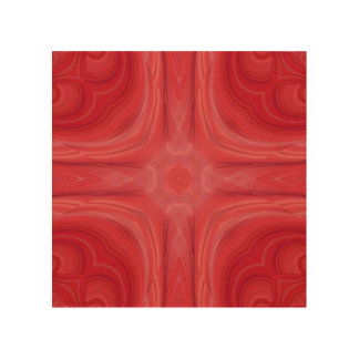 赤くスタイリッシュな木製パターン ウッドウォールアート