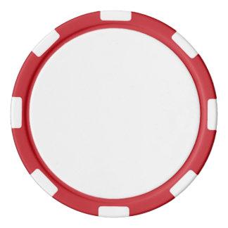 赤くストライプのな端が付いているポーカー用のチップ ポーカーチップ