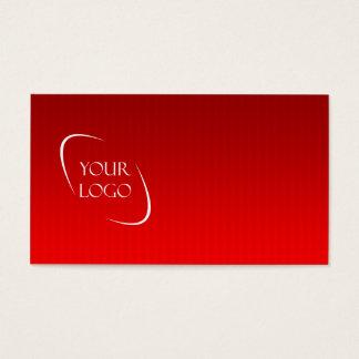 赤くストライプのな背景の名刺とのロゴ 名刺