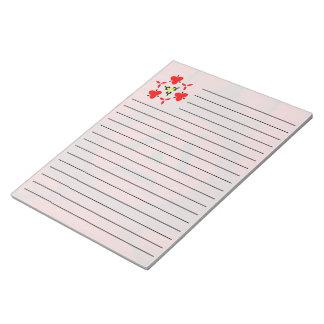 赤くモダンなパターン ノートパッド
