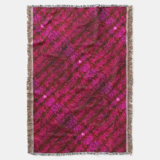 赤くモダンな装飾はパターン芸術毛布2を織ります スローブランケット