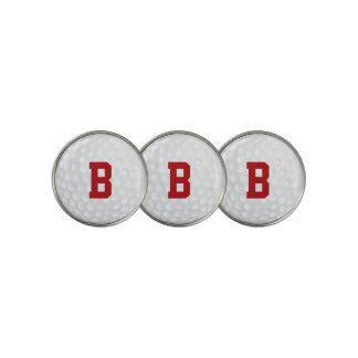 赤くモノグラムのなゴルフ・ボールのマーカー ゴルフボールマーカー