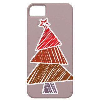赤く不完全なクリスマスツリーのiPhone 5の箱 iPhone SE/5/5s ケース