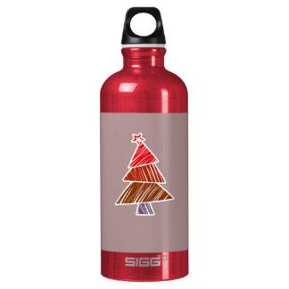 赤く不完全なクリスマスツリー ウォーターボトル