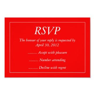 赤く及び白いイベントの応答、RSVPまたは応答カード カード