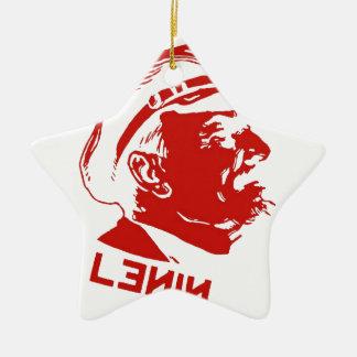 赤く及び白いレーニンの共産主義者のアートワーク セラミックオーナメント