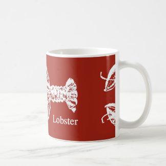 赤く及び白いロブスターのコーヒー・マグ コーヒーマグカップ