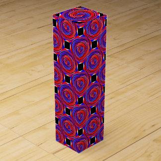 赤く及び青の反対の螺線形 ワイン 化粧箱