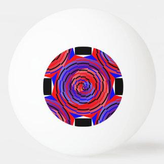 赤く及び青の反対の螺線形 卓球 球
