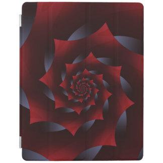 赤く及び青の暗い螺線形のフラクタルのiPad 2/3/4カバー iPadスマートカバー
