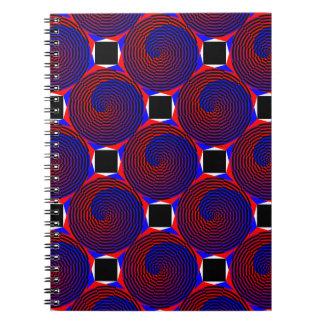 赤く及び青の螺線形ノート ノートブック