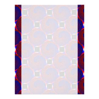 赤く及び青の螺線形レターヘッド レターヘッド