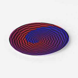 赤く及び青の螺線形 ペーパープレート