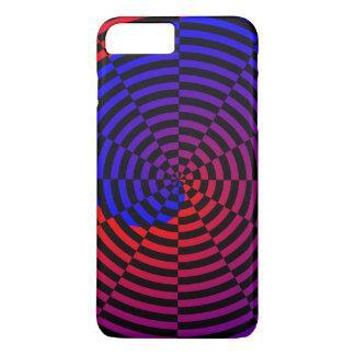 赤く及び青の螺線形 iPhone 8 PLUS/7 PLUSケース