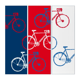 赤く及び青、グラフィック及びカッコいい自転車に乗ります トリプティカ