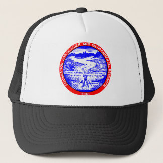 赤く及び青JIRPのロゴの帽子 キャップ