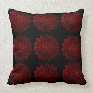 赤く及び黒い装飾用クッション クッション