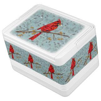 赤く基本的なモザイク イグルークーラーボックス