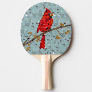 赤く基本的なモザイク 卓球ラケット