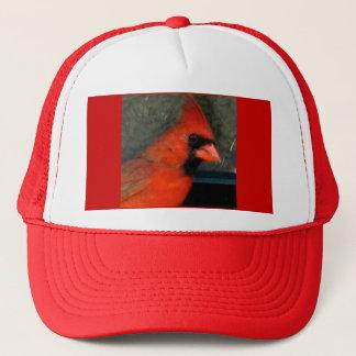 赤く基本的な帽子 キャップ
