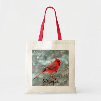 赤く基本的な鳥のバッグ トートバッグ