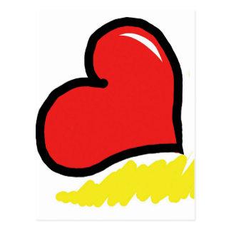 赤く幸せなハート ポストカード