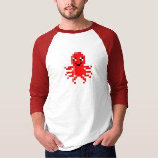 赤く幸せなピクセルイカ Tシャツ