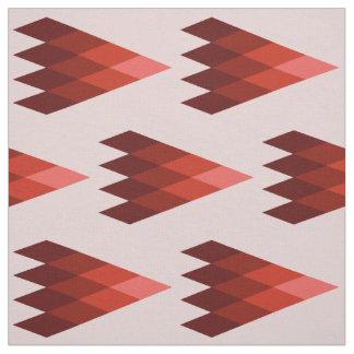 赤く幾何学的な生地 ファブリック