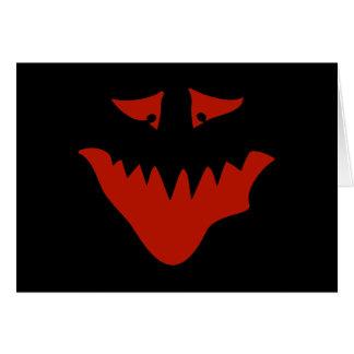 赤く恐い顔。 モンスター カード