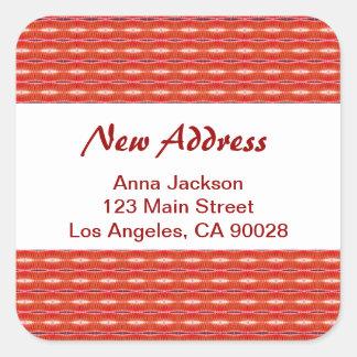 赤く新しい住所 スクエアシール
