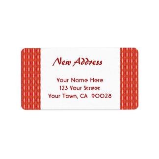 赤く新しい住所 ラベル