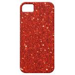 赤く模造のなグリッターの穹窖のiPhone 5の箱 Case-Mate iPhone 5 ケース