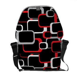 赤く白いおよび灰色のレトロの正方形の人力車Messenge メッセンジャーバッグ