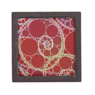 赤く白い回転の抽象芸術 ギフトボックス