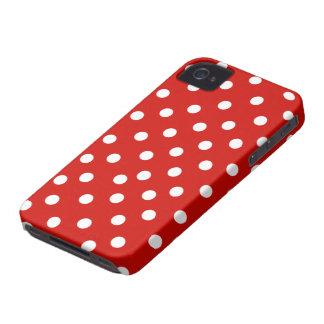 赤く白い水玉模様 Case-Mate iPhone 4 ケース