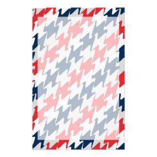 赤く白い濃紺のニューイングランドのフットボール色 便箋