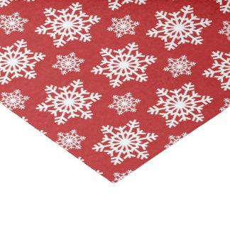 赤く白い雪片パターンパーティーのティッシュ 薄葉紙
