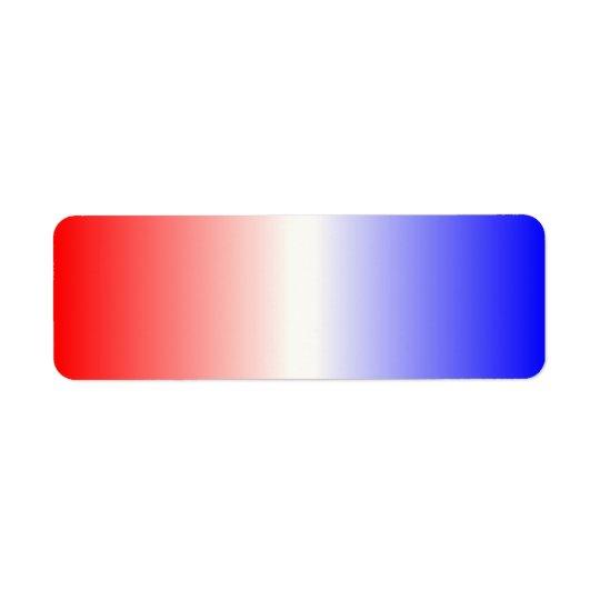 赤く白くおよび青のグラデーション 返信用宛名ラベル