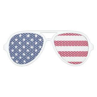 赤く白くおよび青のパーティーのサングラスのパーティの記念品 アビエーターサングラス