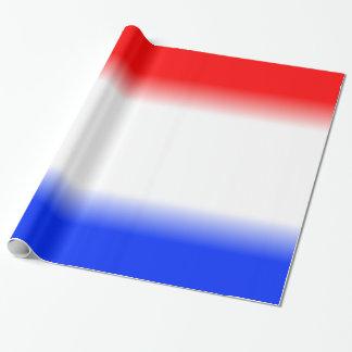 赤く白くおよび青の愛国心が強い ラッピングペーパー