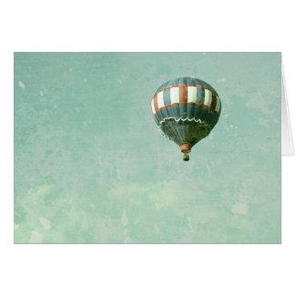 赤く白くおよび青の熱気の気球 カード