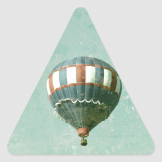 赤く白くおよび青の熱気の気球 三角形シール