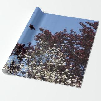 赤く白くおよび青の自然のギフト用包装紙 ラッピングペーパー