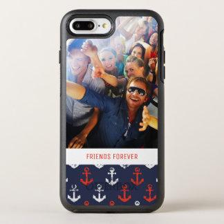 赤く白くおよび青パターン|あなたの写真及び文字 オッターボックスシンメトリーiPhone 8 PLUS/7 PLUSケース