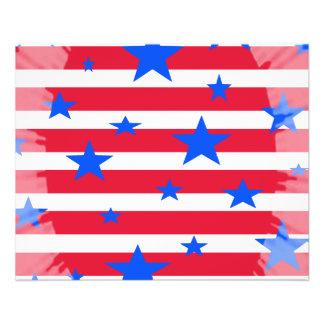 赤く白くおよび青米国の星条旗 チラシ