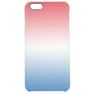 赤く白く及び青のグラデーション クリア iPhone 6 PLUSケース