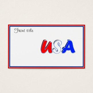 赤く白く及び青米国の文字 名刺
