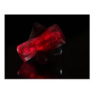 赤く白熱[赤熱]光を放つな水晶 ポストカード